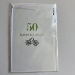 Artebene kort -Happy birthday, 50