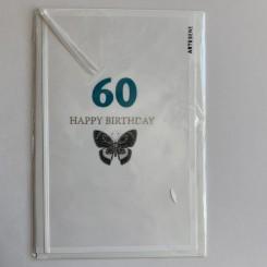 Artebene kort -Happy birthday, 60 blå