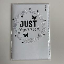 Artebene kort, Just Married -krans