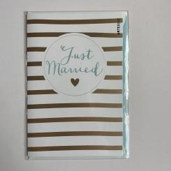 Artebene kort, Just Married -Stribes