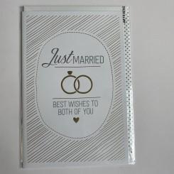 Artebene kort, Just Married, Best wishes