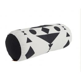 Cylinder pude, sort/hvid