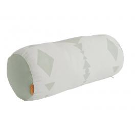 Cylinder pude, mint/hvid