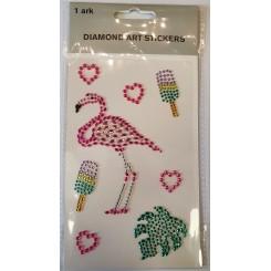 Diamond Art Stickers, Flamingo