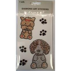 Diamond Art Stickers, Hunde