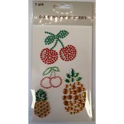 Diamond Art Stickers, Kirsebær og ananas