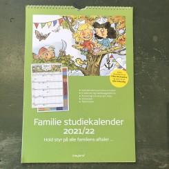 Familie Studiekalender med stickers, illu. af Otto Dickmeiss, 21/22