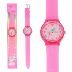 Ylvi & The minimoomis Glitter Silicone Ur, pink