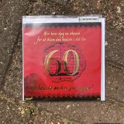 Kort med musik, 60 år