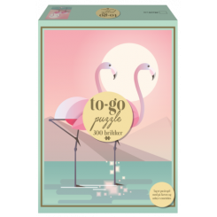 To-Go puzzle Flamingo, 300 brikker