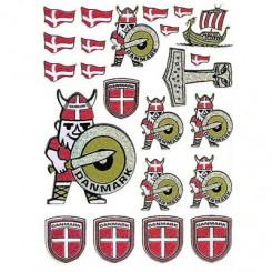 Klistermærker, viking, dannebrog