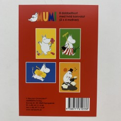 Gaveæske Mumi rød - 8 dobbeltkort