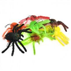 Stor gummi edderkop, 15x8 cm