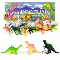 Nøglering, dinosaur, 8 cm
