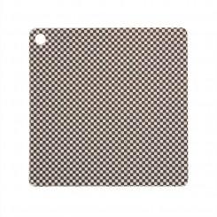 OYOY Dækkeservietter 2 stk., Checker - Dusty Blue / Choko