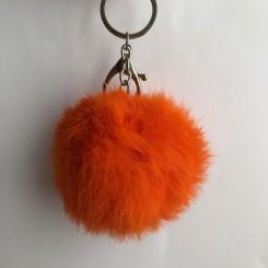 Nøglering plys, orange