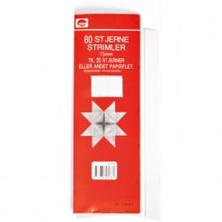 Stjernestrimler, papir, 15mm, hvide til 20 stjerner