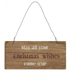 Træ skilt - May all your Christmas wishes come true