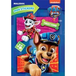 Paw Patrol malebog med stickers