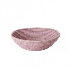Rice Rund Raffia Brødkurv, Lavendel, lille