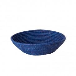 Rice Rund Raffia Brødkurv, Mørkeblå, mellem