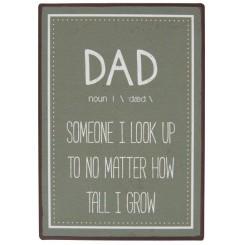 Metalskilt Dad