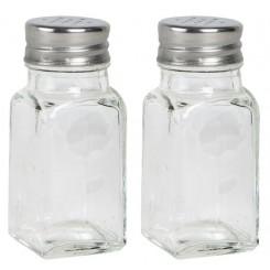 Salt og peberstrøer i glas