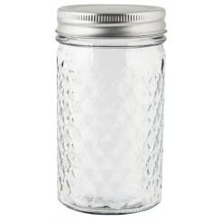 Opbevaringsglas harlekintern m/metallåg