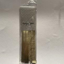 Stjernestrimler 15 mm, guld rustik