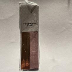 Stjernestrimler 15 mm, rosa metalic