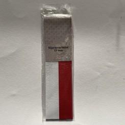 Stjernestrimler 15 mm, hvid og rød plain