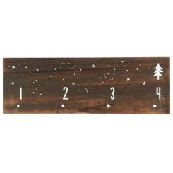 Adventkalender træ skilt