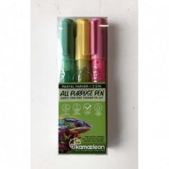 All Purpose Pen, 3 stk. pastelfarver