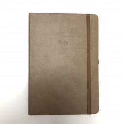 Notesbog A5, dot, brun