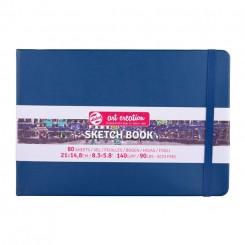 Sketch- og notesbog, 21x14,8cm, Navy Blue