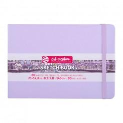 Sketch- og notesbog, 21x14,8cm, Pastel Lilla