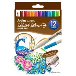 Artline Supreme Brush Pen, 12 stk.