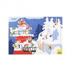 Puslespil Mumi leger med sne, 20+40 brikker