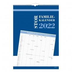 Stor Familiekalender m. 7 kolonner, 2022