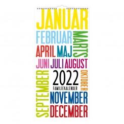 Familiekalender 6 kolonner TrendArt, 2022