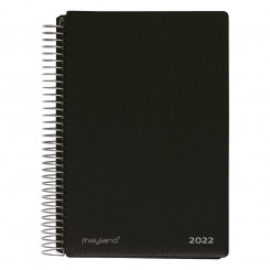 Spiralkalender 2 dage sort, 2022