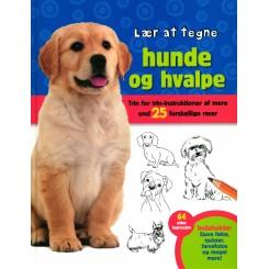 Lær at tegne hunde og hvalpe