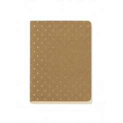 Notesbog Gold Polka - Kraft A6