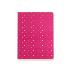 Notesbog Gold Polka - Pink A6