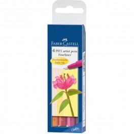 Faber Castell PITT fineliner, warm colours