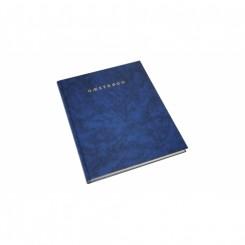 Gæstebog med guldsnit, blå