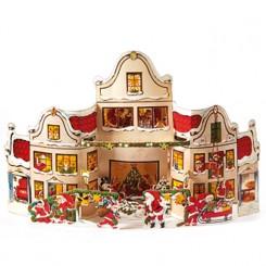 3D Julekalender, saml-selv, hus