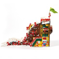 3D Julekalender, saml-selv, rutschebane, Bramming