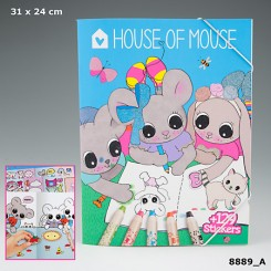 House of Mouse Male- og Stickersbog