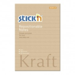 Stick'n selvklæbende notesblok 150x101mm - Kraft